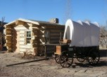 Bluff Fort -- New cabin addition at the Bluff Fort Historic Site. Lamont Crabtree Photo