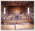 Bluff Fort Meetinghouse interior