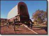 Covered Wagon at the Bluff Historic Fort. Lamont Crabtree Photo