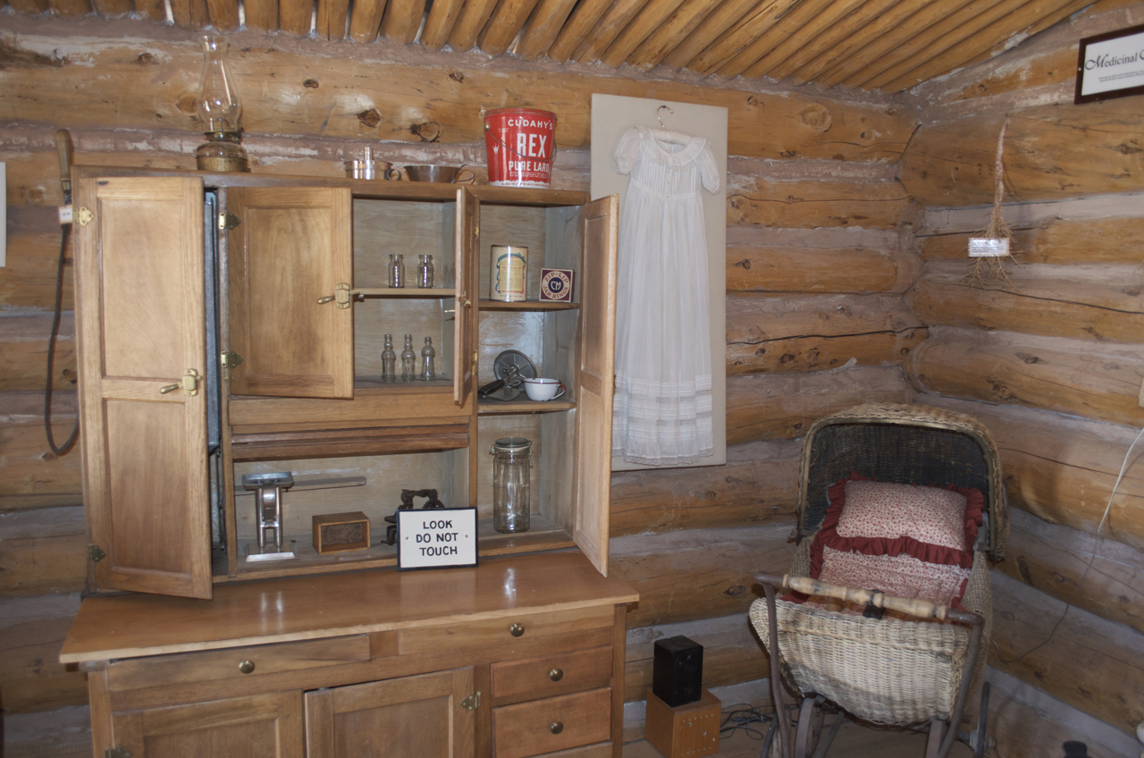 Inside Wood Cabin